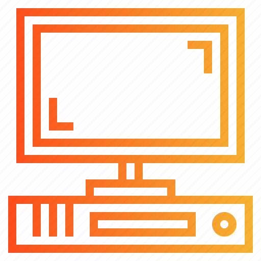 computer, desktop, monitor, technology icon
