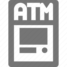 atm, bank, banking icon