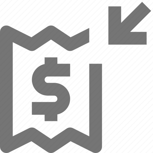 arrow, banking, deposit, money icon