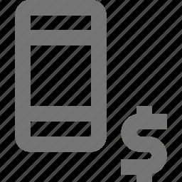 banking, money, phone, smartphone, telephone icon