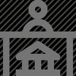bank teller, banking icon