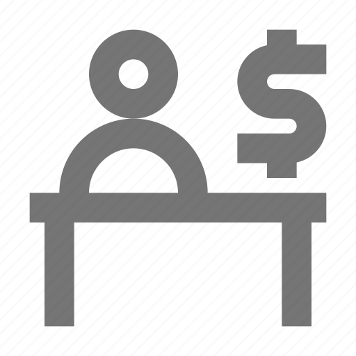 bank, bank teller, banking, business, dollar, finance, money, service icon