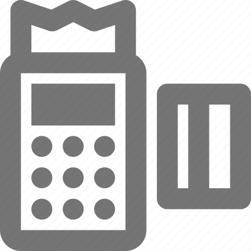 banking, calculator, credit card icon