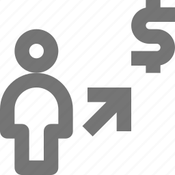 arrow, banking, money, payment, purchase icon