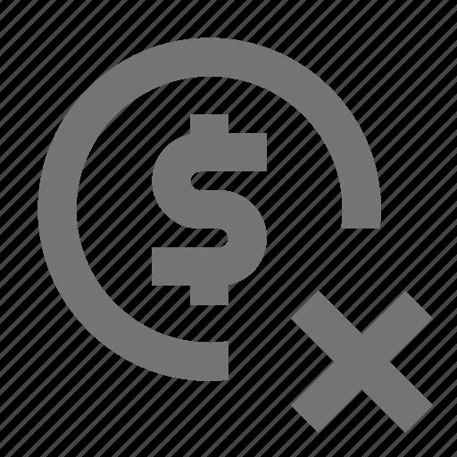 banking, delete, money icon