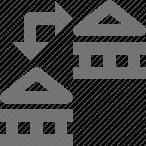 arrow, banking, transfer icon
