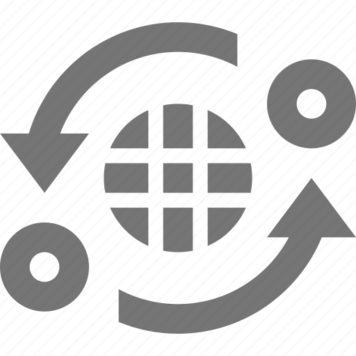 banking, business, finance, international, loop, refresh, reload, sync icon