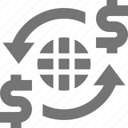 arrows, banking, international banking, money, refresh, reload icon