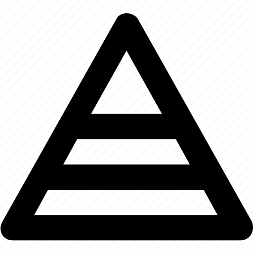chart, pyramid, pyramid graph, triangle, trigon icon