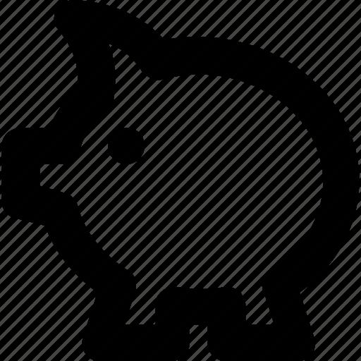 economy, money bank, pig, piggy, piggy bank icon