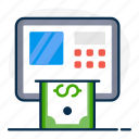 atm, atm machine, cash dispenser, cash withdrawal, instant banking, payment gateway icon