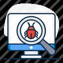 antivirus, beta, bug tracking, debugging, malware, tester, virus scanning icon