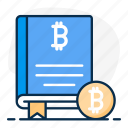 bitcoin, bitcoin book, book, cryptocurrency book, finance book, guidebook, reference book icon