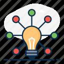 bigidea, bright idea, creative, creative network, innovation, network, new idea icon