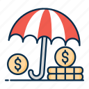 financial insurance, insurance, money insurance, business insurance, financial, asset protection icon