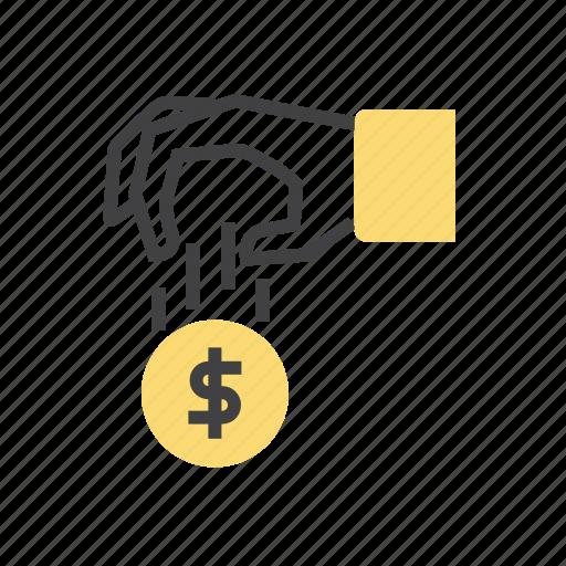 cash, coin, donation, finance icon