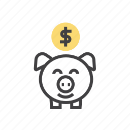 bank, cash, coin, money, piggy icon