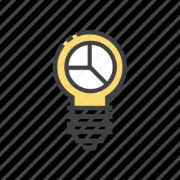 bulb, creative, design, solution icon