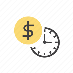clock, money, payment, time icon