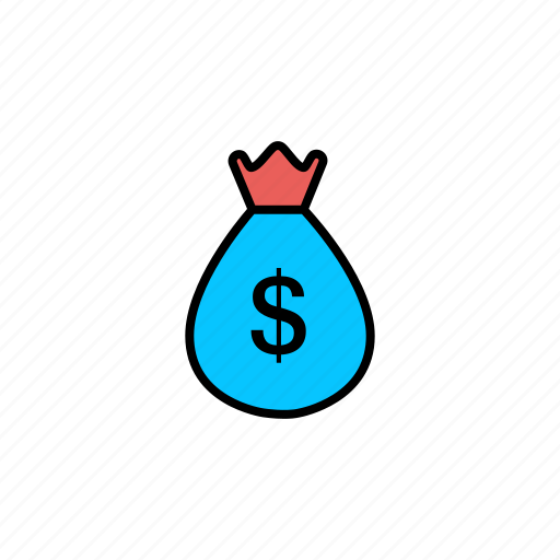 bag, dollar, finance, money, money bag icon