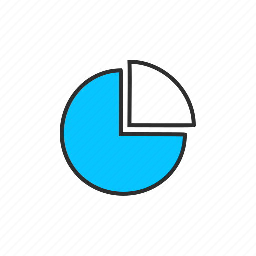 analysis, chart, graph, pie chart, portion icon