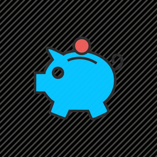 coin, finance, pig, piggy bank, savings icon