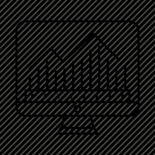 analysis, chart, data, diagram, display, statics, technology icon