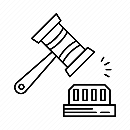 crime, gavel, hammer, justice, law, lawyer, scale icon
