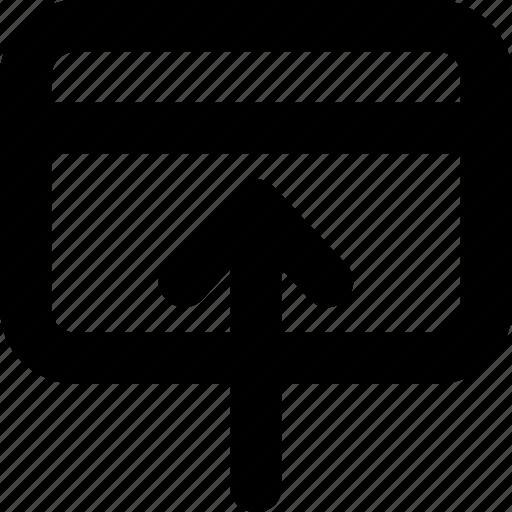 arrow, bank card, banking, credit card, up arrow icon