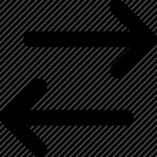 arrows, exchange, left, right, transfer icon