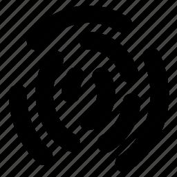 fingerprint, impression, investigation, scanning, thumb print icon