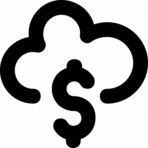 cloud, dollar, icloud, online business, online money icon