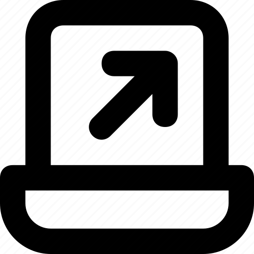 arrow, expand, increas, laptop, screen icon