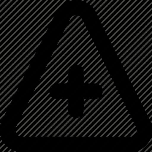 add, addition, new, plus, pyramid icon