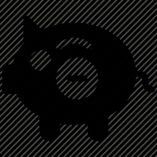 bank, finance, piggy, remove icon