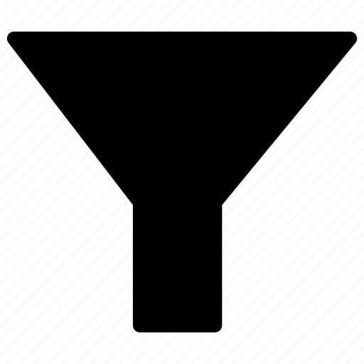 filter, funnel, sort, tool icon