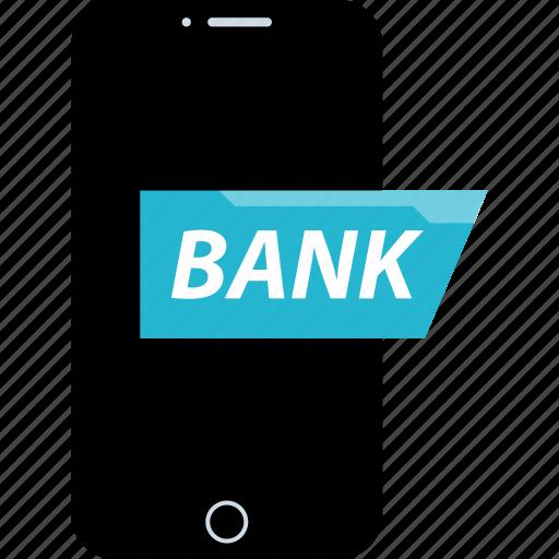 bank, banker, banking, mobile icon