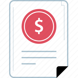 banking, contract, finance, page icon