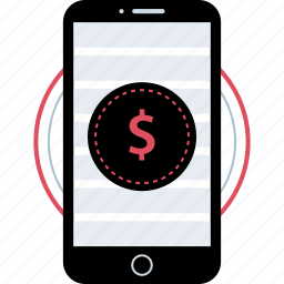 cell, dollar, phone, sign icon
