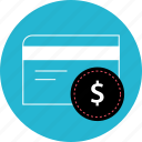 card, credit, dollar, sign icon
