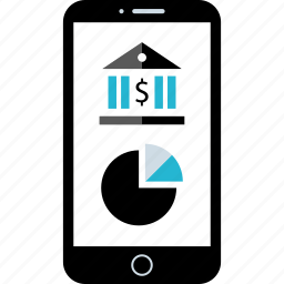 banking, cell, finance, mobile icon