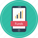 banking, cell, funds, mobile icon