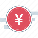 chinese, money, track, yen icon