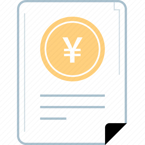 chinese, contract, money, yen icon