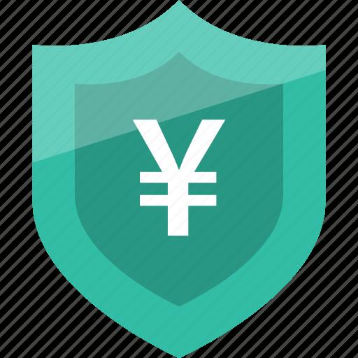 money, pay, shield, yen icon