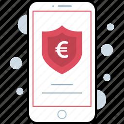 mobile, phone, shield, uk icon