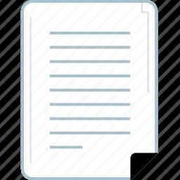 data, graphic, page, report icon