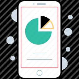 chart, graph, graphic, pie icon
