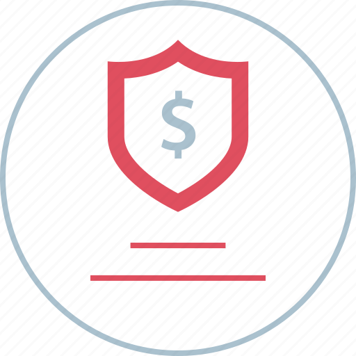 dollar, financing, secured, sign icon