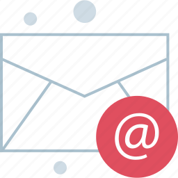 atsign, email, message, send icon